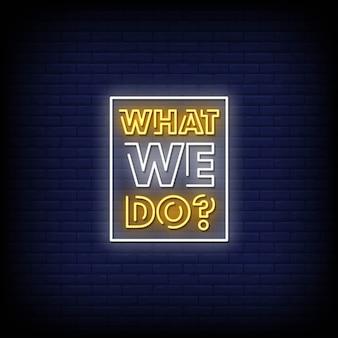 Co robimy tekst w stylu neonów