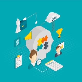Coaching business isometric