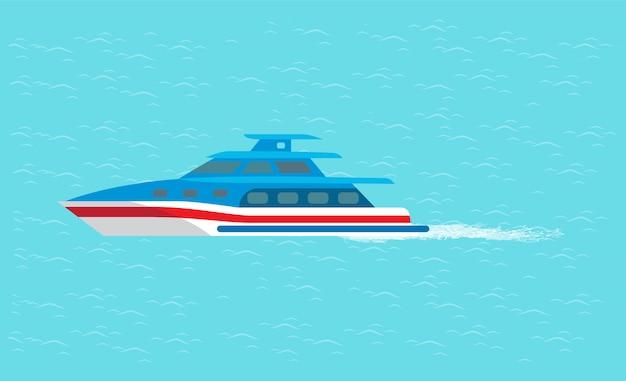 Coast guard transport vehicle żagle w wodzie