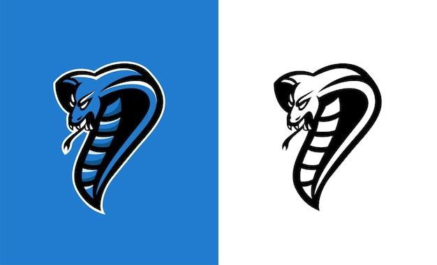 Cobra w sportowym stylu. wektor ilustracja węża. idealny do stosowania na naklejkach, logotypach.