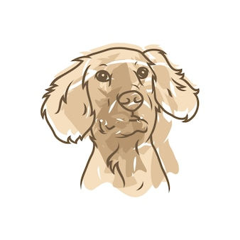 Cockapoo dog - wektor logo / ikona ilustracja maskotka