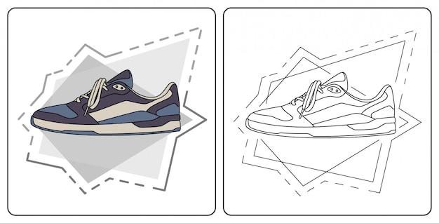 Codzienne buty łatwe do edycji