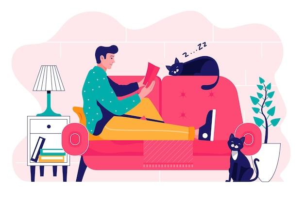Codzienne sceny ze zwierzętami domowymi