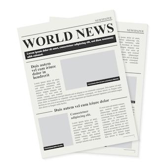 Codzienny dziennik prasowy, biznesowe wiadomości promocyjne