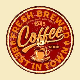 Coffee shop retro znaki graficzne