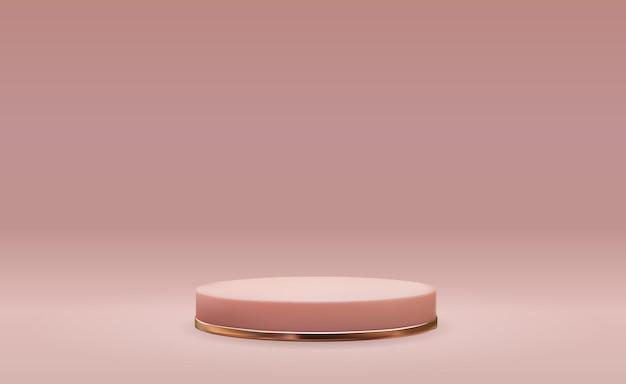 Cokół w kolorze różowego złota