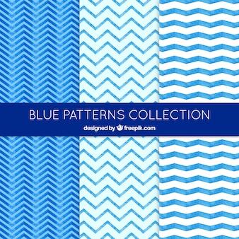 Colección de patrones azules