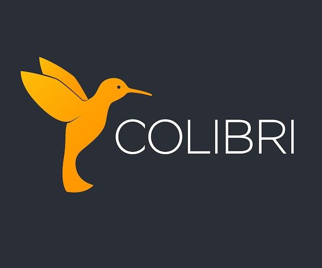 Colibri, element logo kolibra na ciemnym tle