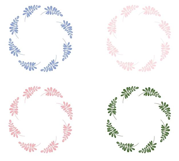 Coloful leaf wreath circle