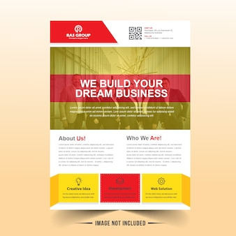 Colorfull business flyer vector design
