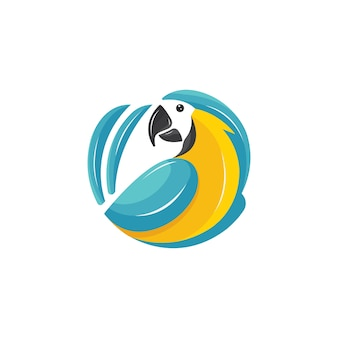 Colorfull parrot logo wektor