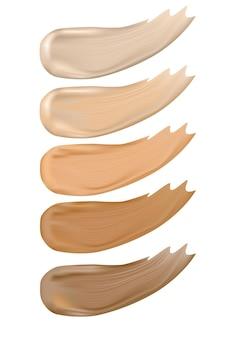 Colour shades palette for foundationkosmetyk do makijażu na plakat banerowy