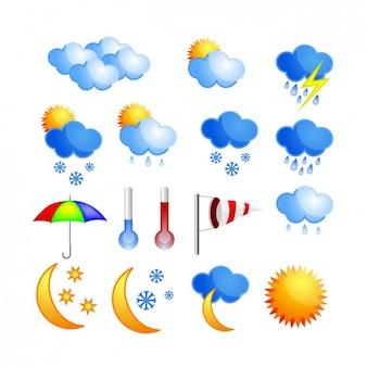 Coloure ikony pogody