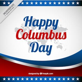 Columbus dzień abstrakcyjne tło z falami