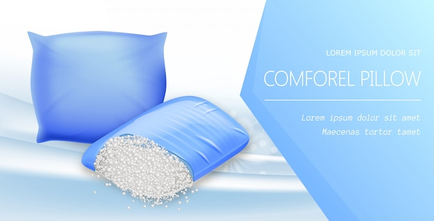 Comforel pillow banner, resilient materials