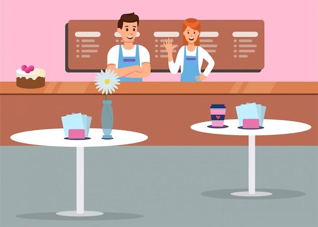 Comfort cafe interior professional service