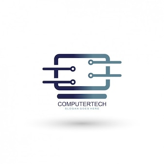 Computing company logo template