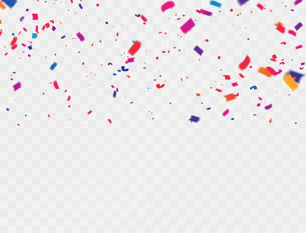 Confetti kolorowe wstążki.