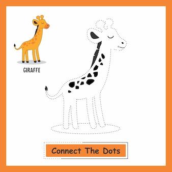 Connect the dots animals giraffe