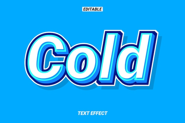 Cool 3d niebieski efekt tekstowy