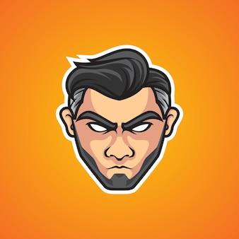 Cool man head sport logo