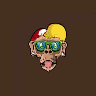 Cool monkey wektor ilustracja