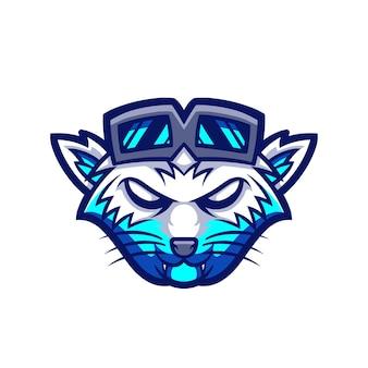 Cool wolf esport gaming logo