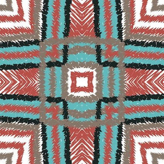 Coral repeat tie dye. wzór morski chevron. płytka aztecka artystyczna tekstura. zanurz tło etniczne tkaniny. geometryczny ikat japan.