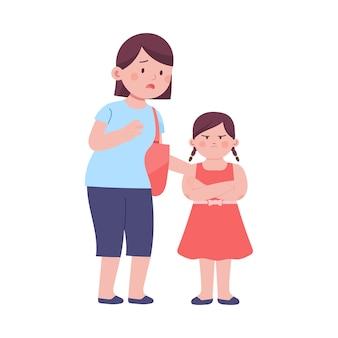 Córka jest zła, a jej matka próbuje ją przekonać