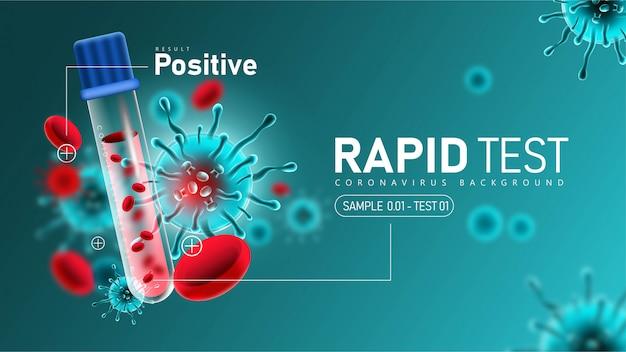 Coronavirus 2019- ncov szybki test z pozytywnym wynikiem