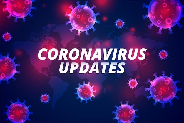 Coronavirus aktualizuje najnowszą infekcję pandemiczną covid-19