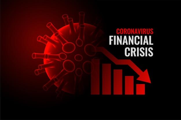 Coronavirus covid-19 kryzys finansowy tło upadku gospodarki