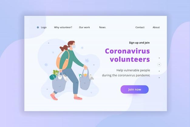 Coronavirus zgłaszał się na stronę docelową kobiety w maskach