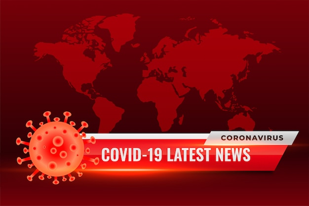 Corovavirus covid19 najnowsze wiadomości aktualizuje czerwone tło