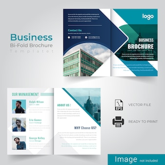 Corporate bi-fold szablon broszury