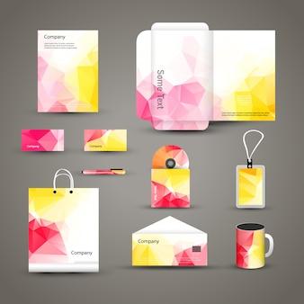 Corporate brand biznesowy projekt tożsamości układ szablonu