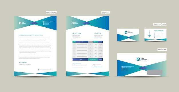 Corporate business branding projekt tożsamości lub projekt papeterii lub wizytówka firmowa