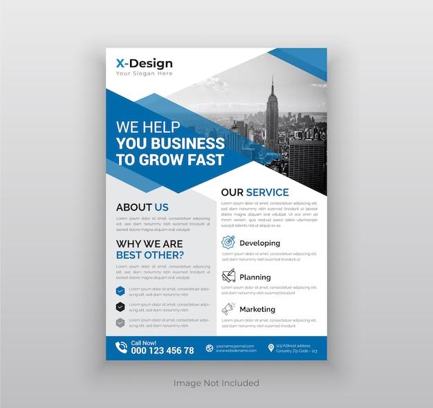 Corporate business flyer plakat broszura szablon układu projektu okładki