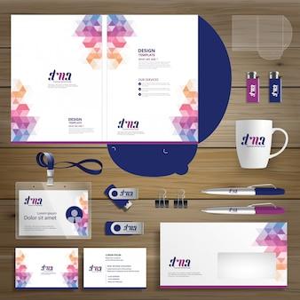 Corporate business folder technology firma papiernicza, prezentacja