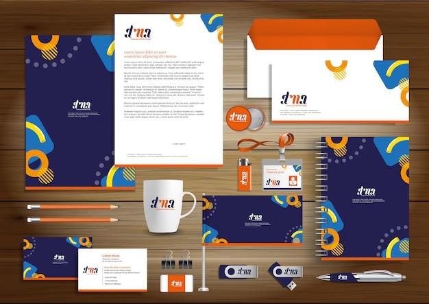 Corporate business identity design wektor papeterii