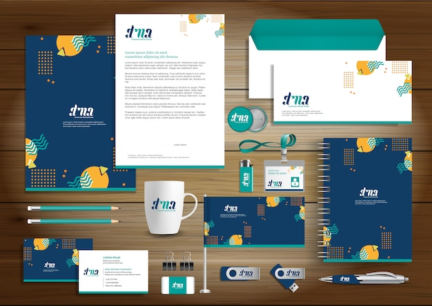 Corporate business identity design wektor papeterii