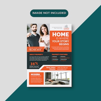 Corporate clean real estate flyer