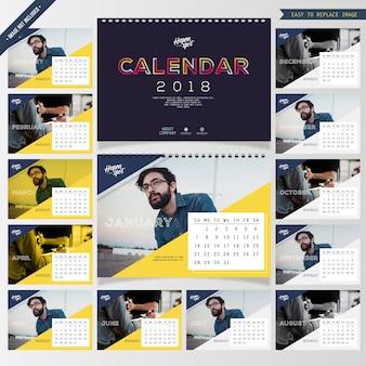 Corporate desk calendar 2018