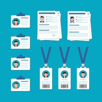 Corporate id card design templatepłaska konstrukcja ikona ilustracja wektorowa