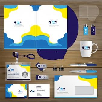 Corporate Identity Business template design Streszczenie wektora