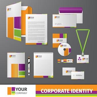 Corporate identity z kształtów kolorów