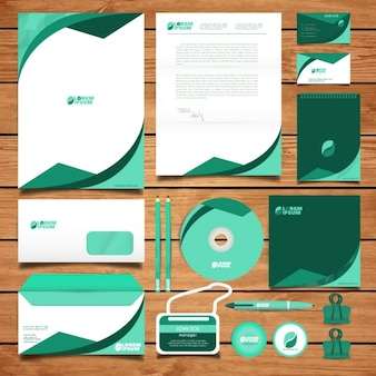 Corporate identity zielony design