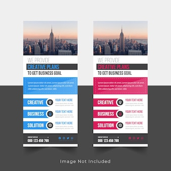 Corporate roll up banner i signage standee design