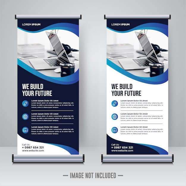 Corporate rollup lub szablon projektu banera x.