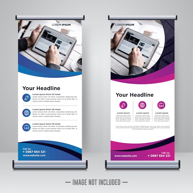 Corporate rollup lub x banner design template